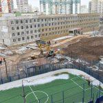 Школу на 900 мест в Павшинской пойме должны сдать в эксплуатацию в конце июля.