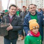 Губернатор Московской области провел субботник в Красногорске в микрорайоне Павшинская пойма