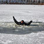 Два человека провалились под лед в районе Павшинской поймы