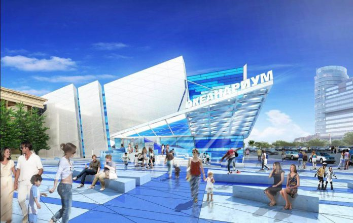 Открытие океанариума в ТЦ Crocus city