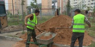 Строительство новой пешеходной дорожки в Павшинской Пойме