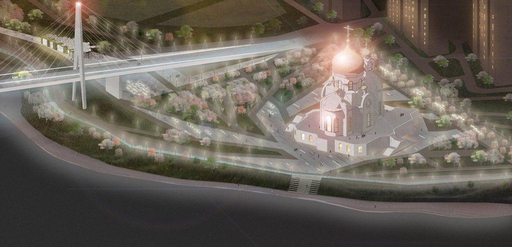 Компания выигравшая тендер на проектирование набережной выложила визуализацию концепта проекта