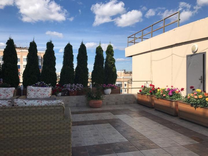 Зона отдыха на крыше многоэтажки в Павшинской пойме ликвидирована