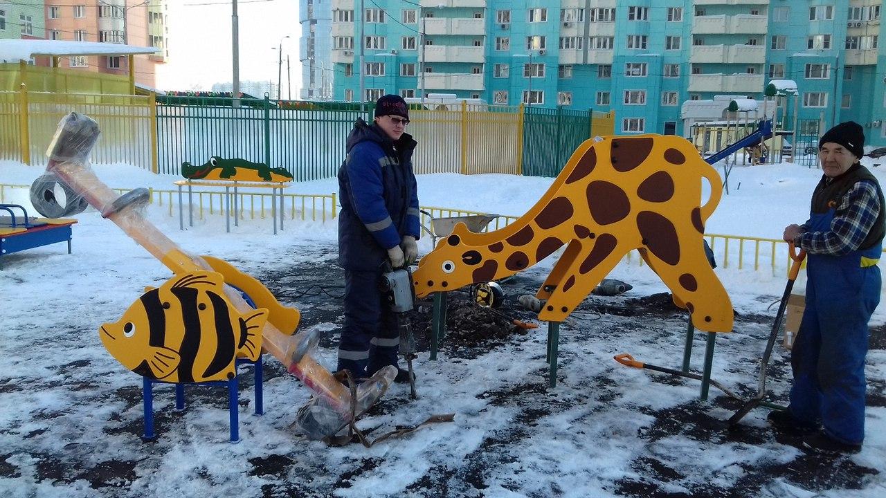 В микрорайоне Павшинская пойма готовится к открытию новая площадка