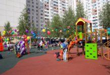 В Павшинской пойме открылась новая детская площадка
