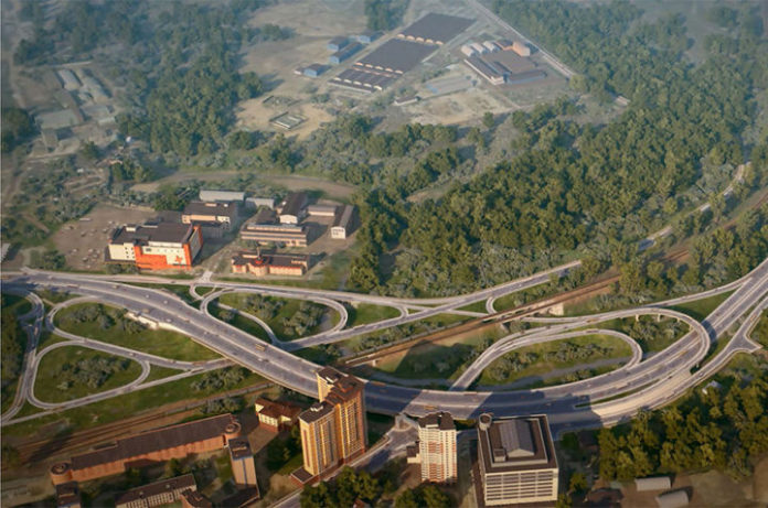 Участок развязки на пересечении Волоколамского и Ильинского шоссе начнет работать в ноябре