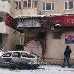 Пожарные спасли человека во время пожара в цветочном магазине в Павшинской пойме