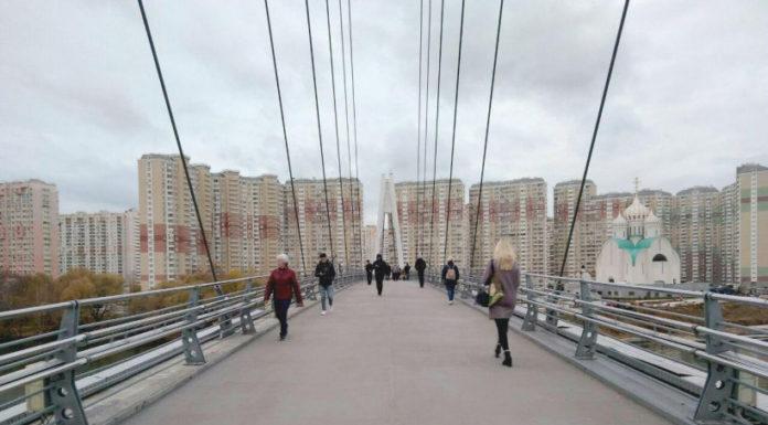 В Павшинской пойме завершен ремонт Павшинского пешеходного моста